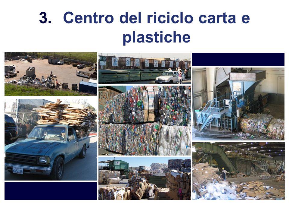 3.Centro del riciclo carta e plastiche
