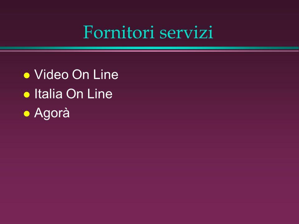 Fornitori servizi l Video On Line l Italia On Line l Agorà