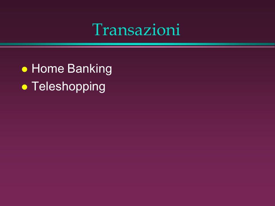 Transazioni l Home Banking l Teleshopping