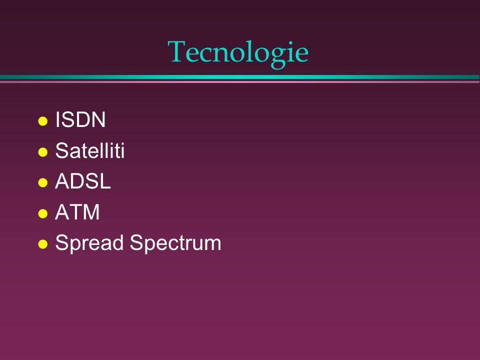 Tecnologie l ISDN l Satelliti l ADSL l ATM l Spread Spectrum
