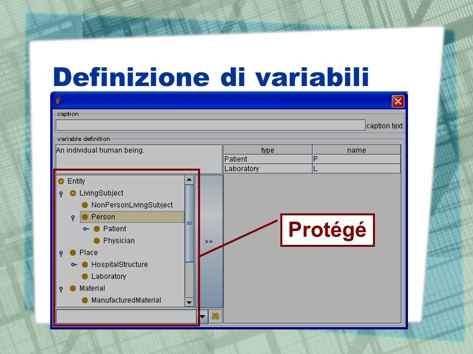 Definizione di variabili Protégé
