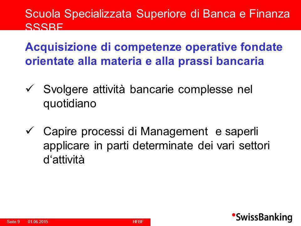 HFBF Seite 2001.06.2015 Scuola/Regioni AKAD Banking+Finance Scuola Specializzata Superiore di Banca e FInanza SSSBF