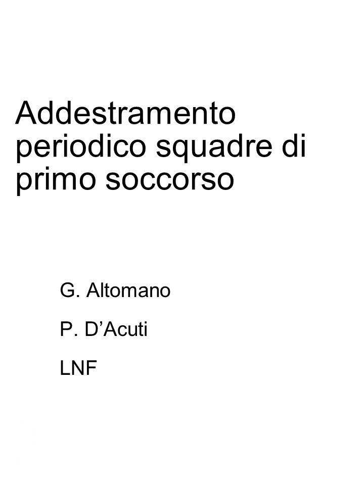 Addestramento periodico squadre di primo soccorso G.
