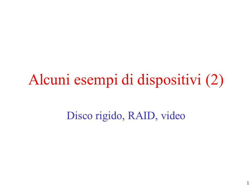 12 Hardware del Video (2) Una immagine della video RAM –un semplice display monocromatico, modo carattere La schermata corrispondente –gli x sono i byte degli attributi
