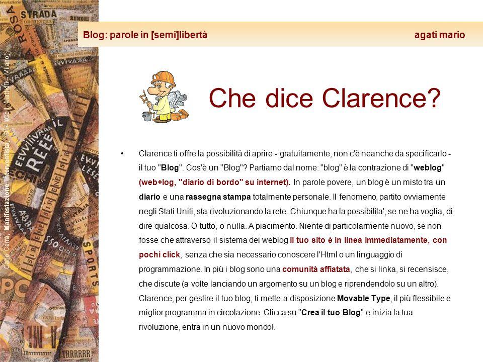 Blog: parole in [semi]libertà agati mario Carlo Carrà, Manifestazione interventista, 1914 (Coll. Mattioli – Milano) Che dice Clarence? Clarence ti off