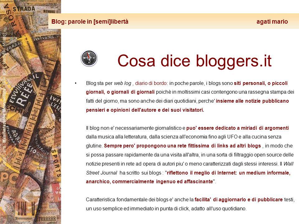 Blog: parole in [semi]libertà agati mario Carlo Carrà, Manifestazione interventista, 1914 (Coll. Mattioli – Milano) Cosa dice bloggers.it Blog sta per