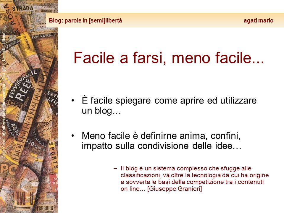 Blog: parole in [semi]libertà agati mario Carlo Carrà, Manifestazione interventista, 1914 (Coll. Mattioli – Milano) Facile a farsi, meno facile... È f