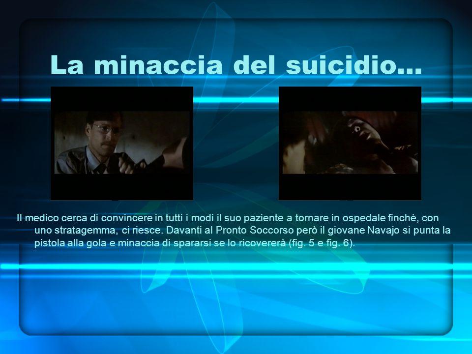 La minaccia del suicidio… Il medico cerca di convincere in tutti i modi il suo paziente a tornare in ospedale finchè, con uno stratagemma, ci riesce.