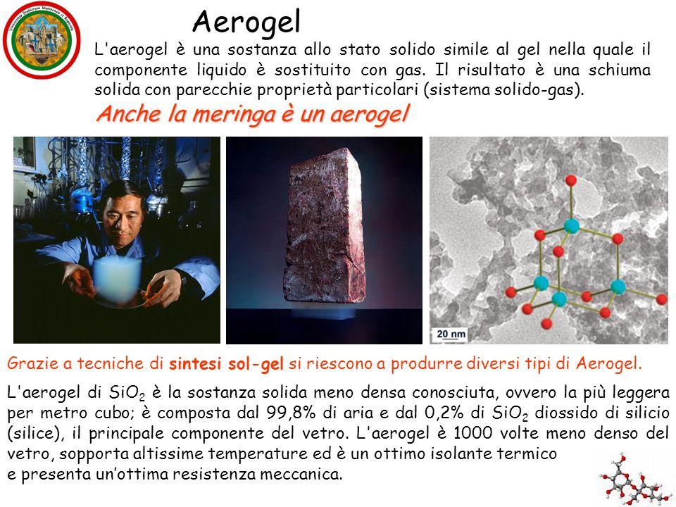 L'aerogel è una sostanza allo stato solido simile al gel nella quale il componente liquido è sostituito con gas. Il risultato è una schiuma solida con