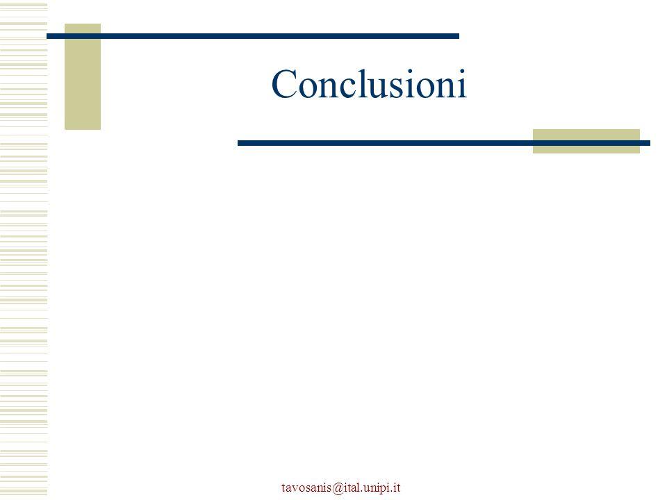 tavosanis@ital.unipi.it Conclusioni
