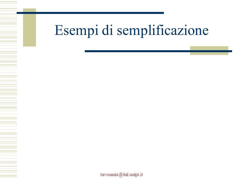 tavosanis@ital.unipi.it Esempi di semplificazione