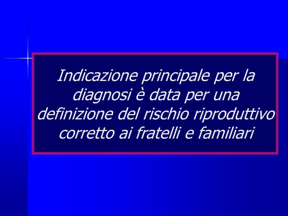 10^sg I II III Coppia giunta all'ambulatorio di consulenza genetica, inviata dal ginecologo curante, per eseguire una villocentesi alla 10^ settimana della I gravidanza.