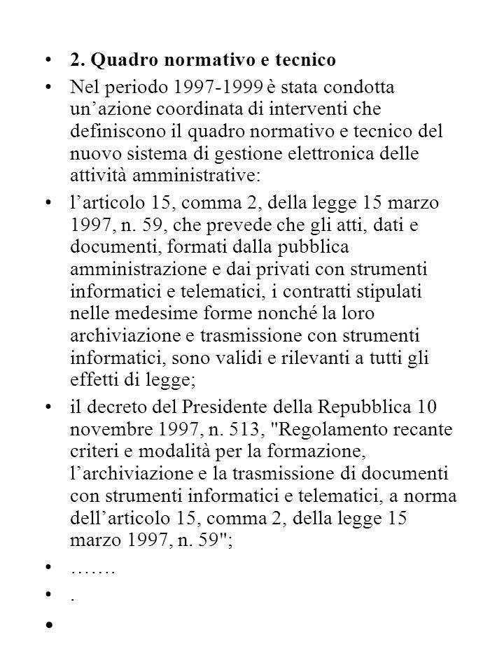 la delibera dell'AIPA del 30 luglio 1998, n.24, che definisce le regole tecniche sull'archiviazione ottica; il decreto del Presidente della Repubblica 20 ottobre 1998, n.