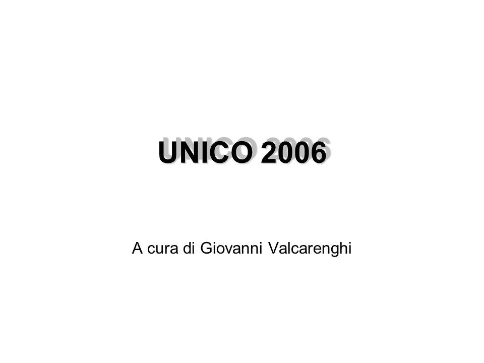 UNICO 2006 A cura di Giovanni Valcarenghi