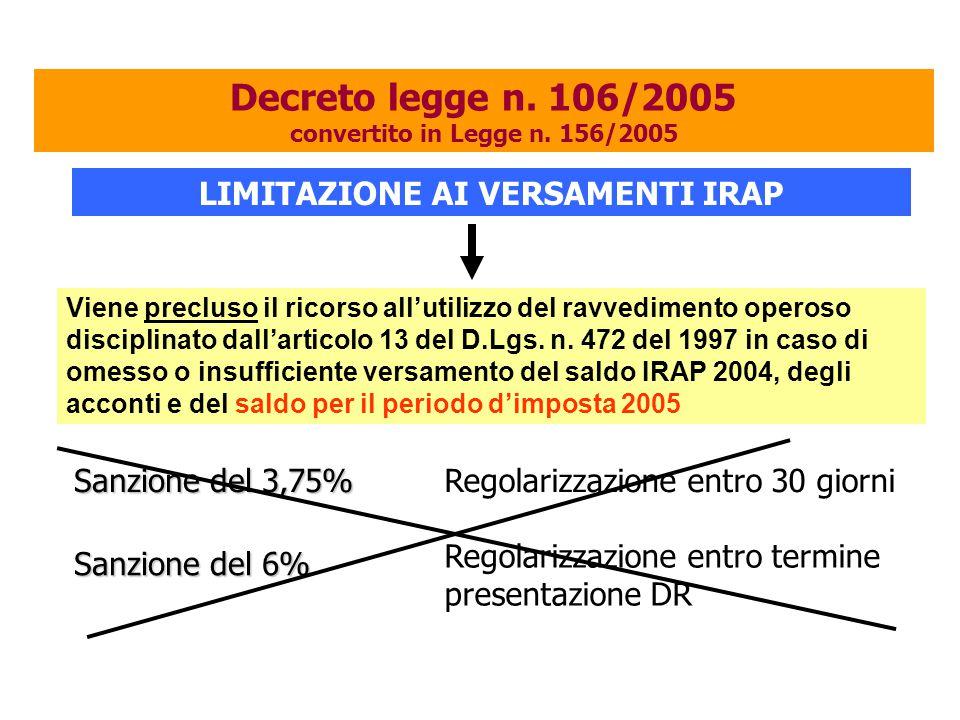 Viene precluso il ricorso all'utilizzo del ravvedimento operoso disciplinato dall'articolo 13 del D.Lgs. n. 472 del 1997 in caso di omesso o insuffici
