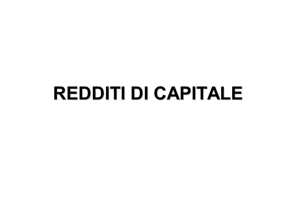 REDDITI DI CAPITALE