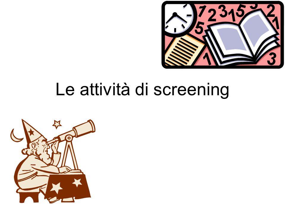 Le attività di screening