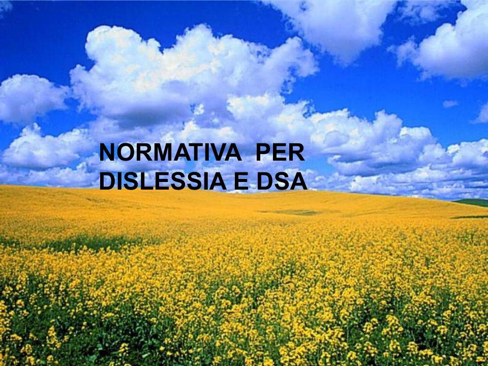 NORMATIVA PER DISLESSIA E DSA