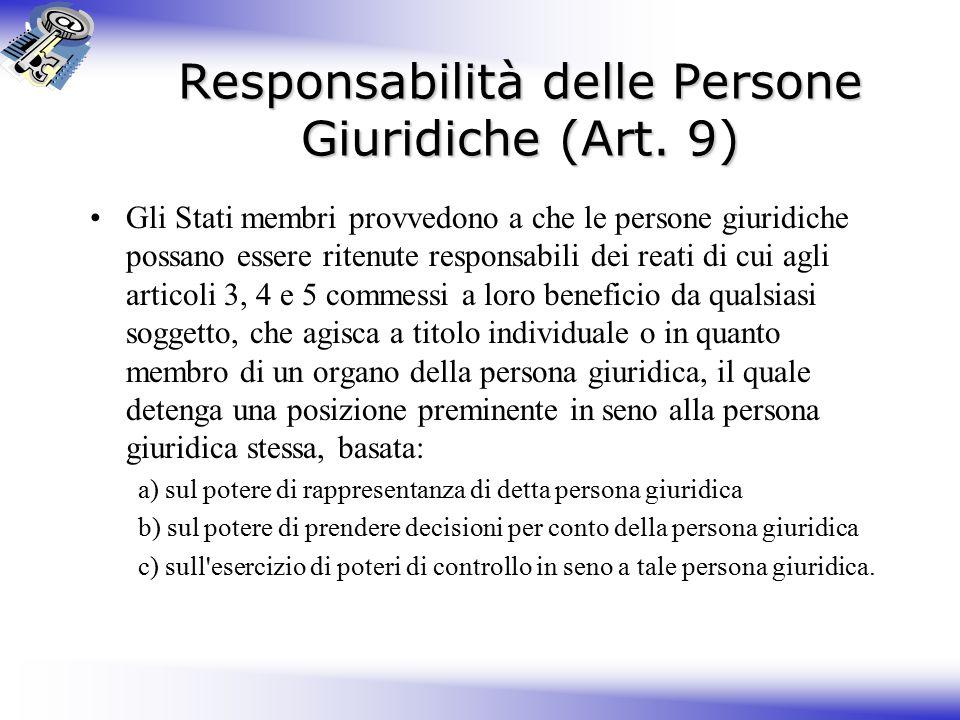 Responsabilità delle Persone Giuridiche (Art.