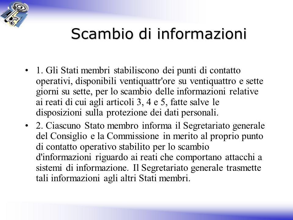 Scambio di informazioni 1.