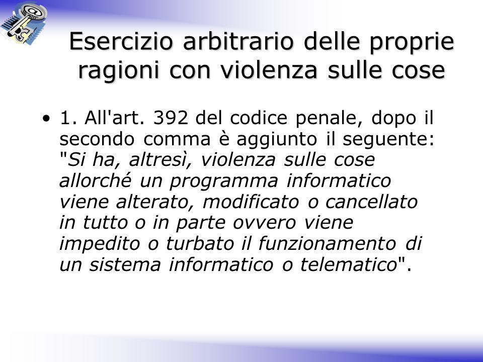 Forma ed Efficacia del Documento Informatico (T.U.) 1.