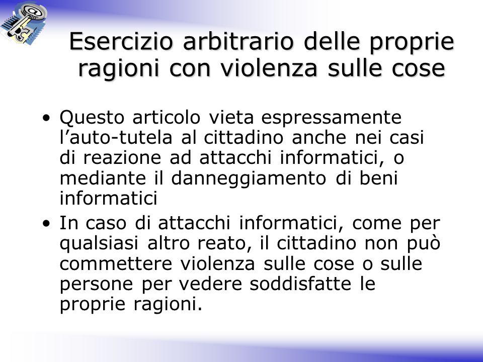 Delitti contro l'ordine pubblico 1.L art. 420 del codice penale è sostituito dal seguente: Art.