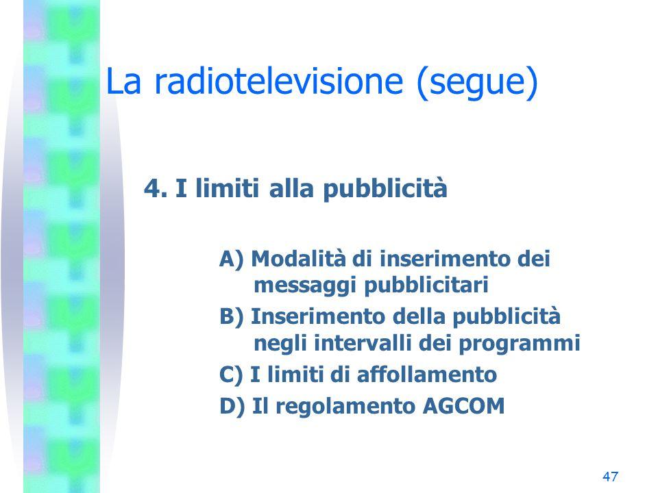 46 La radiotelevisione (segue) 3. Le quote europee (segue) B) Quote di produzione (44 TU) Obbligo di riservare all'acquisto o alla produzione di opere