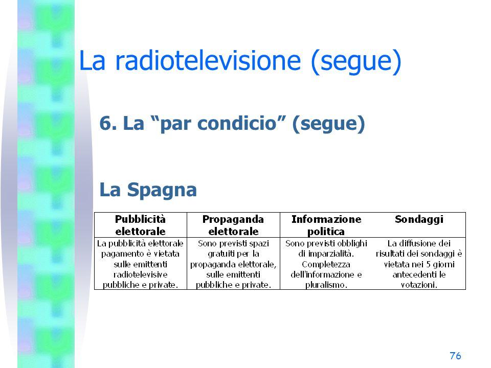 "75 La radiotelevisione (segue) 6. La ""par condicio"" (segue) Il Regno Unito"