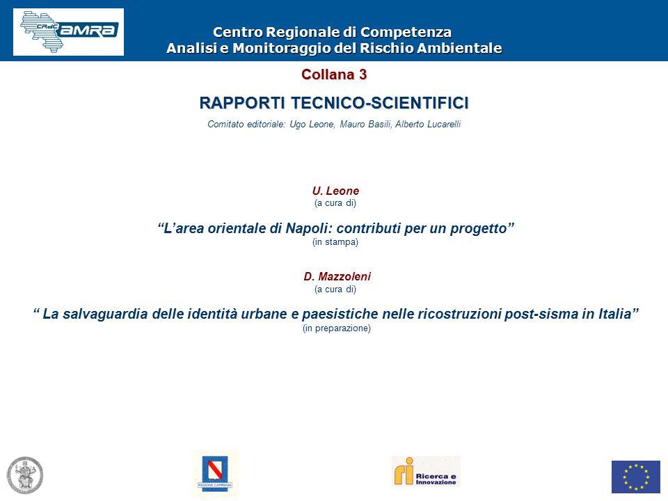 Centro Regionale di Competenza Analisi e Monitoraggio del Rischio Ambientale U.