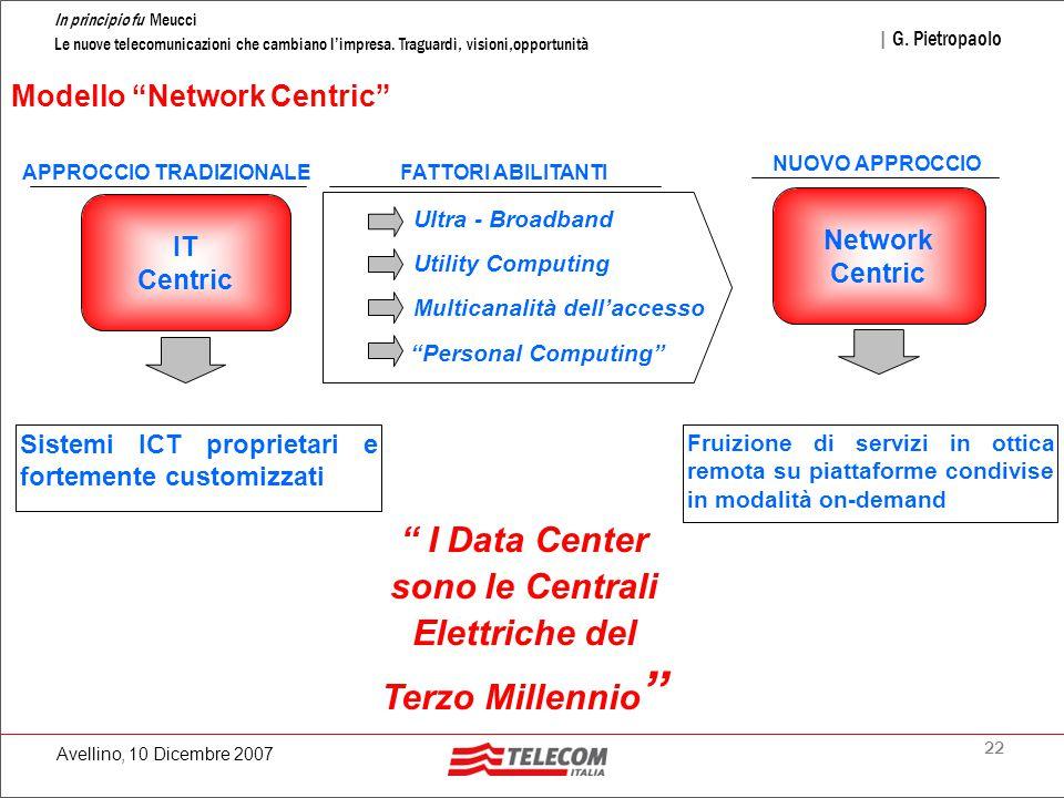 22 In principio fu Meucci Le nuove telecomunicazioni che cambiano l'impresa.
