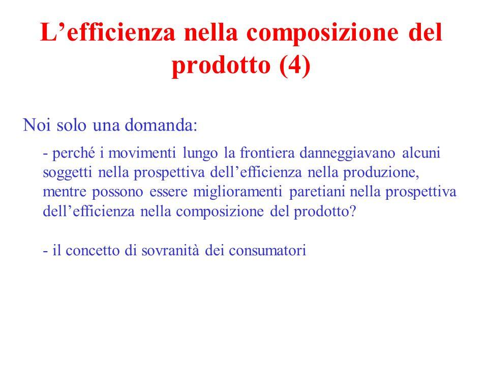 L'efficienza nella composizione del prodotto (4) Noi solo una domanda: - perché i movimenti lungo la frontiera danneggiavano alcuni soggetti nella pro