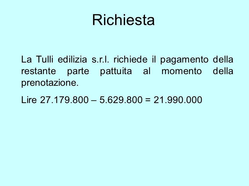 Richiesta La Tulli edilizia s.r.l.