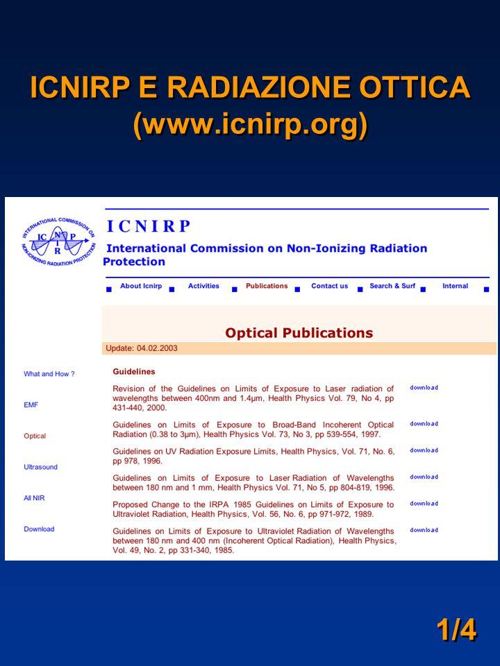 ICNIRP E RADIAZIONE OTTICA (www.icnirp.org) 1/4