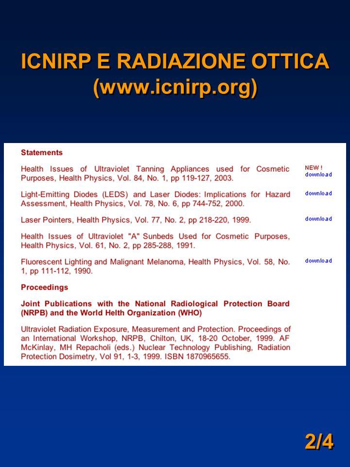 2/4 ICNIRP E RADIAZIONE OTTICA (www.icnirp.org)