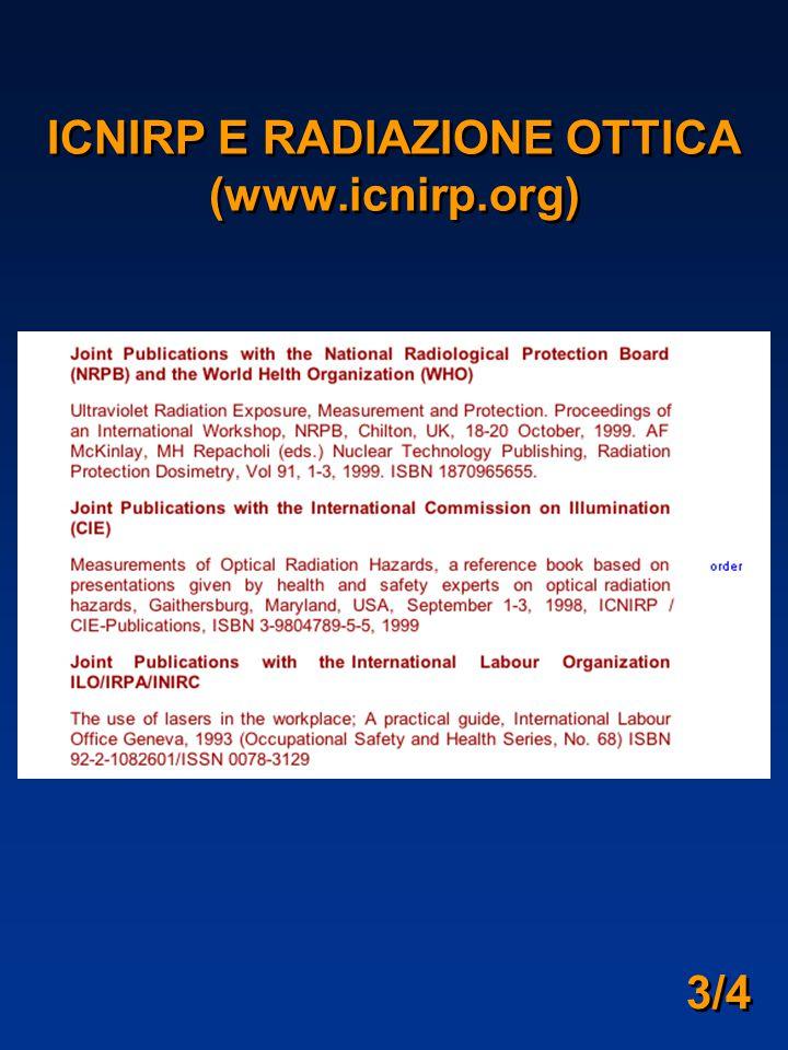 3/4 ICNIRP E RADIAZIONE OTTICA (www.icnirp.org)