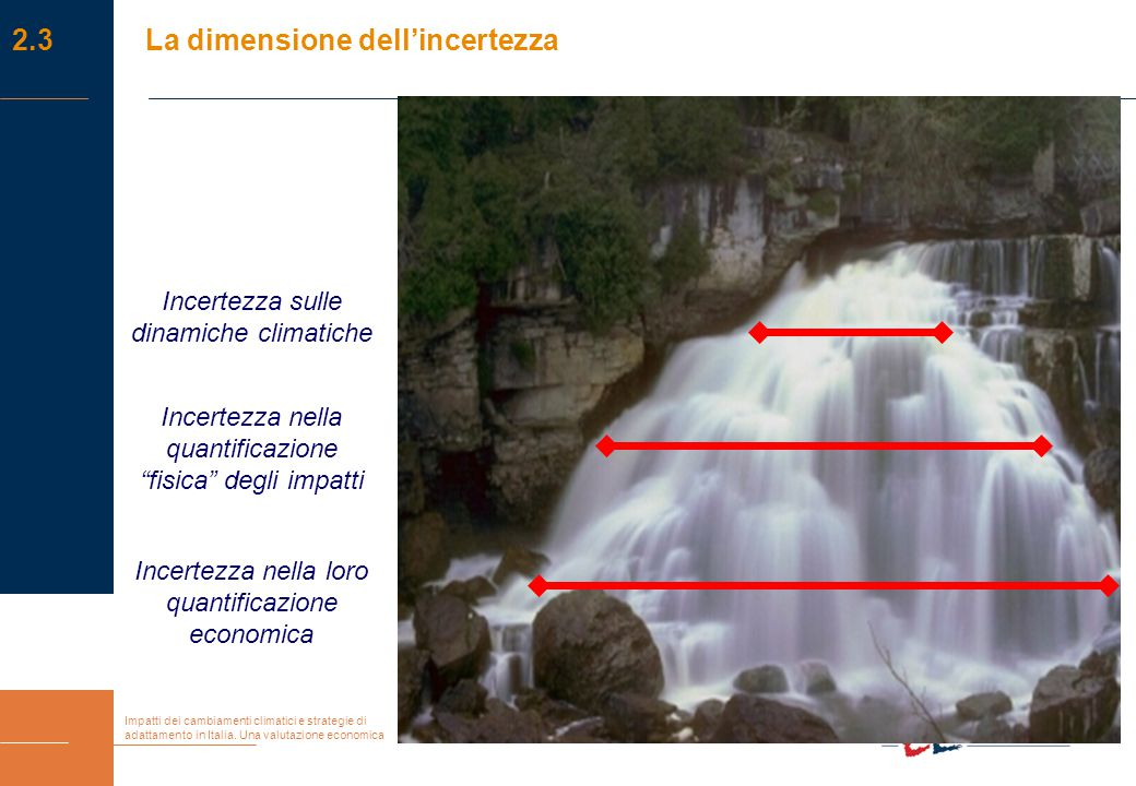 Impatti dei cambiamenti climatici e strategie di adattamento in Italia. Una valutazione economica Incertezza sulle dinamiche climatiche Incertezza nel
