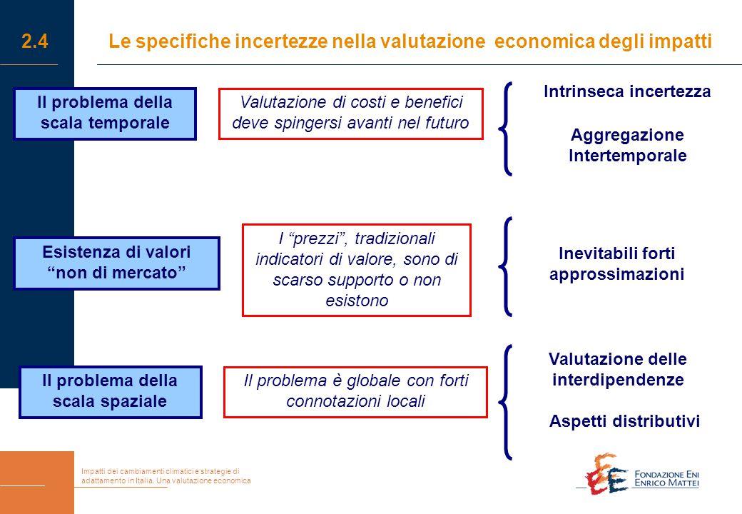 Impatti dei cambiamenti climatici e strategie di adattamento in Italia. Una valutazione economica 2.4Le specifiche incertezze nella valutazione econom
