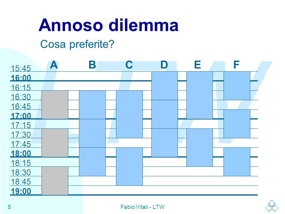 LTW Fabio Vitali - LTW5 Annoso dilemma Cosa preferite.