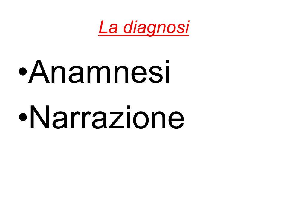 La diagnosi Anamnesi Narrazione