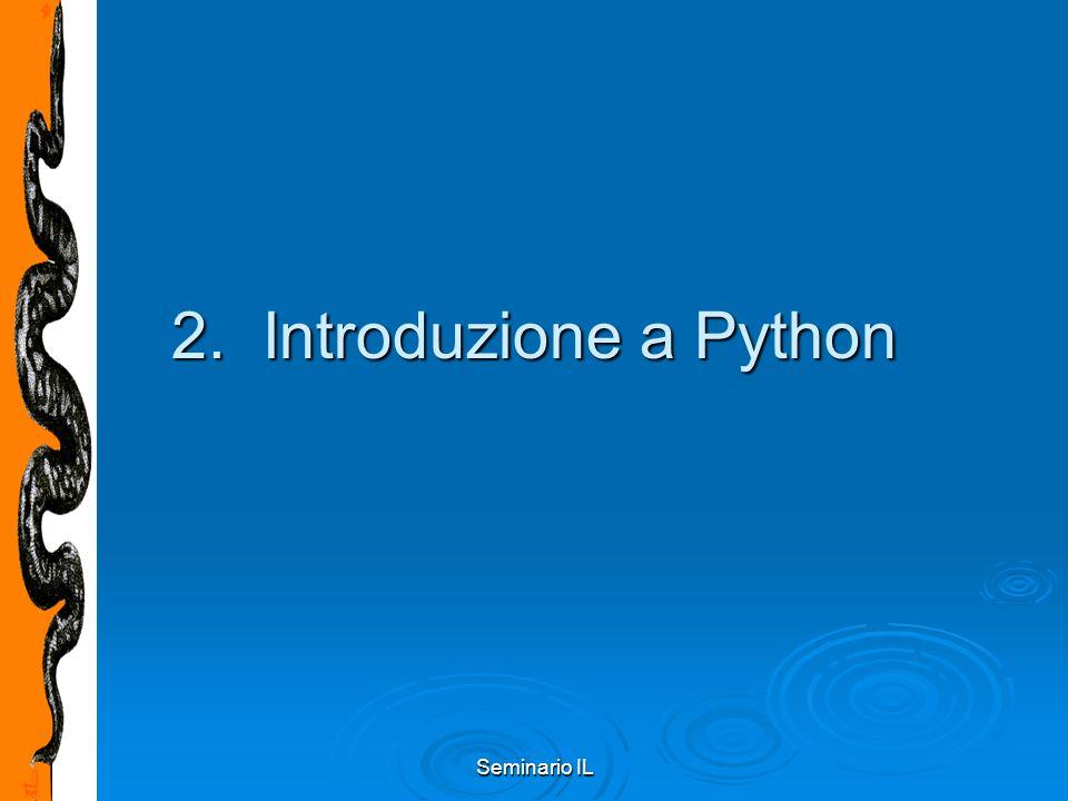 Seminario IL 2. Introduzione a Python