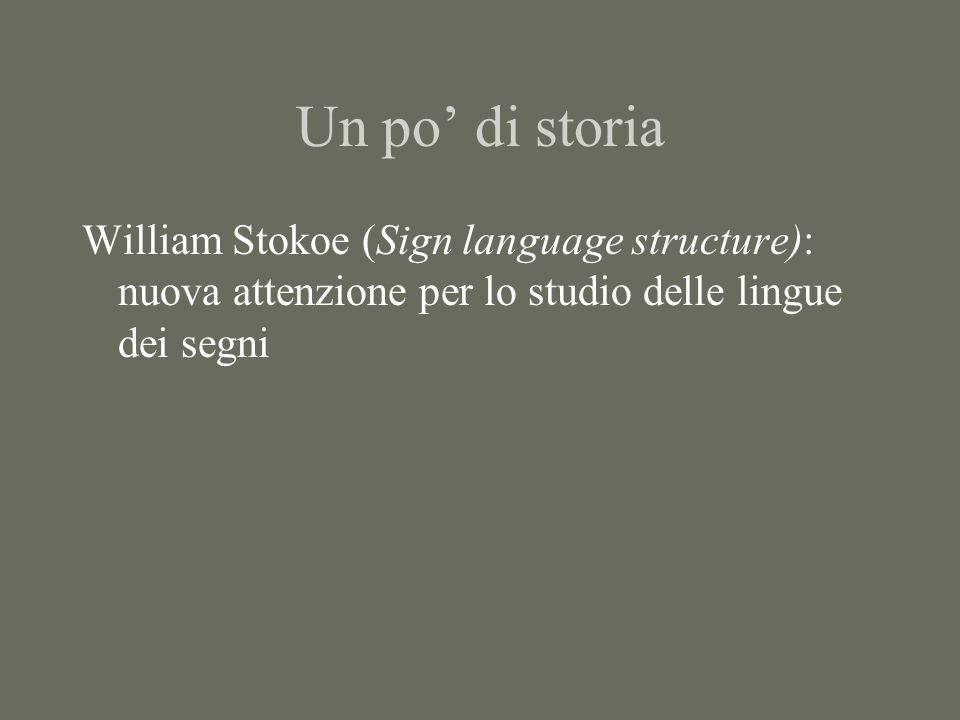 Un po' di storia William Stokoe (Sign language structure): nuova attenzione per lo studio delle lingue dei segni
