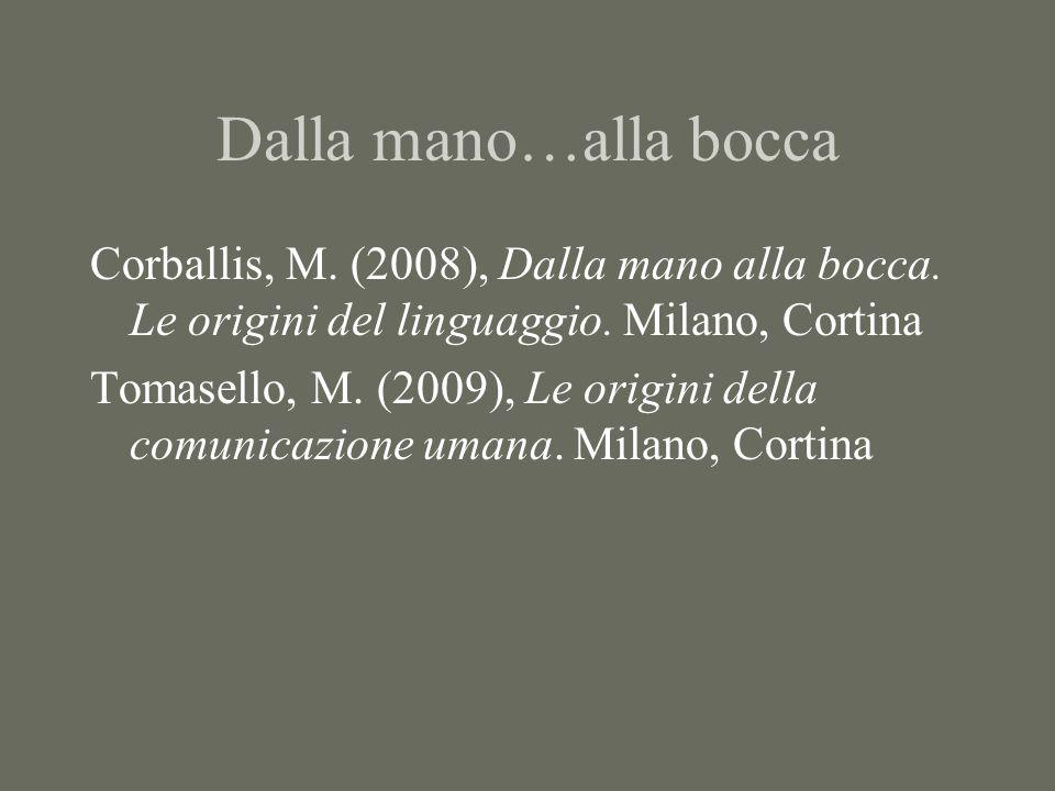 Dalla mano…alla bocca Corballis, M. (2008), Dalla mano alla bocca.