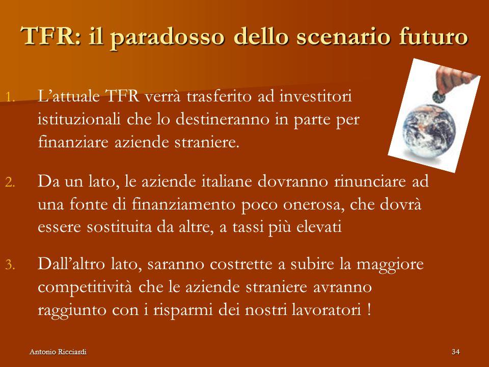Antonio Ricciardi34 TFR: il paradosso dello scenario futuro 1.