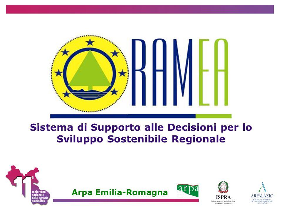 Sistema di Supporto alle Decisioni per lo Sviluppo Sostenibile Regionale Arpa Emilia-Romagna
