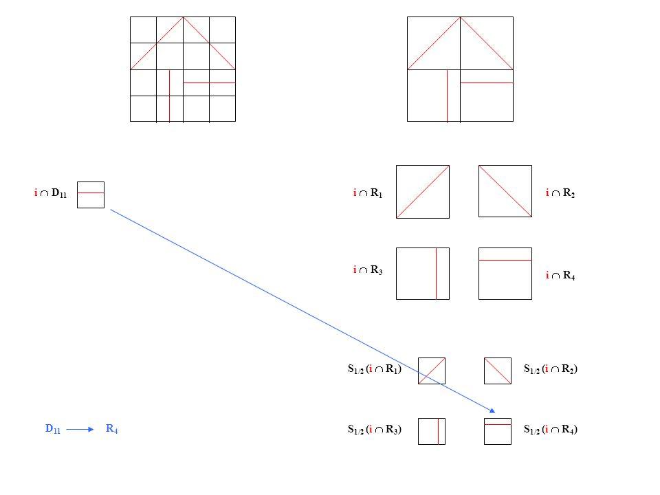 i  D 11 i  R 1 i  R 2 i  R 3 i  R 4 S 1/2 (i  R 1 )S 1/2 (i  R 2 ) S 1/2 (i  R 3 )S 1/2 (i  R 4 ) D 11 R 4