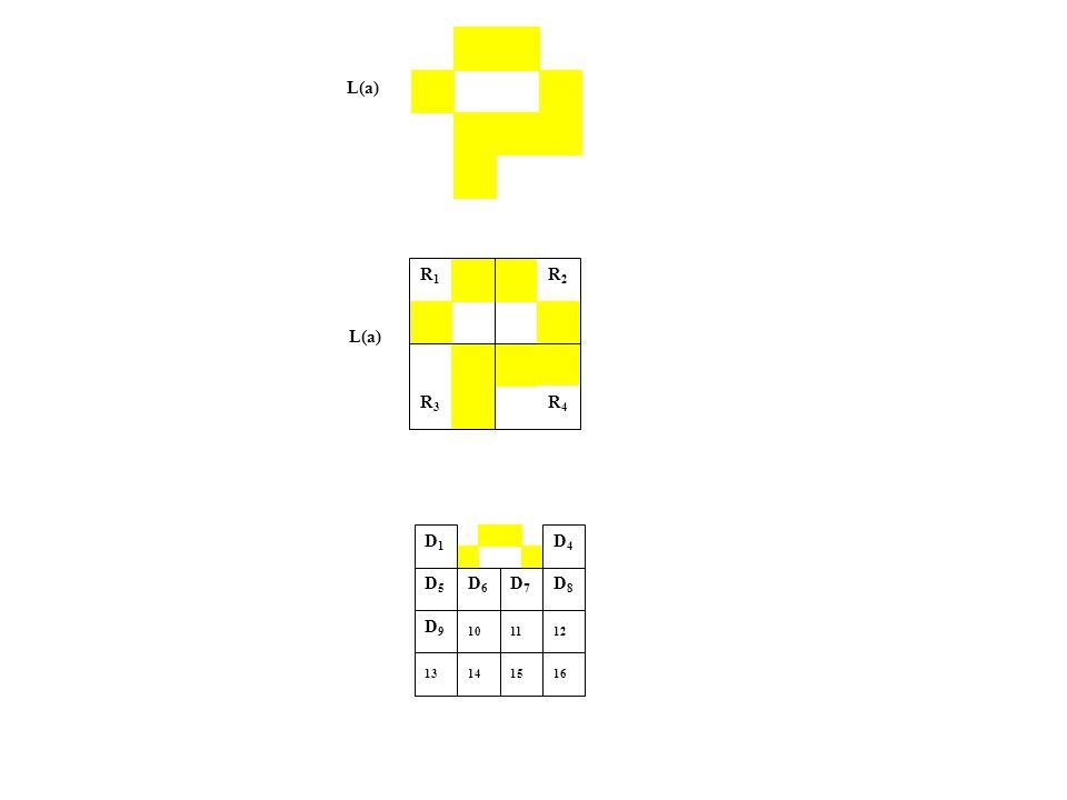 L(a) R1R1 R2R2 R3R3 R4R4 D4 D1D4 D1 D7 D1D7 D1 D6 D1D6 D1 D1 D1D1 D1 D9 D1D9 D1 12 13 16 14 D5 D5 D8 D8 10 11 15