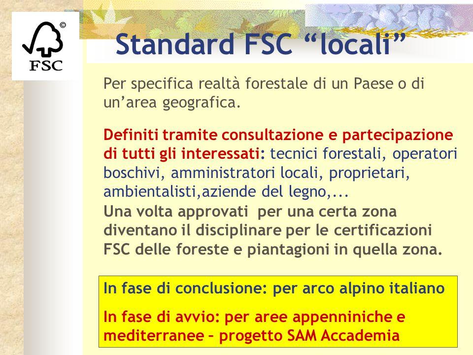 Una volta approvati per una certa zona diventano il disciplinare per le certificazioni FSC delle foreste e piantagioni in quella zona. Definiti tramit