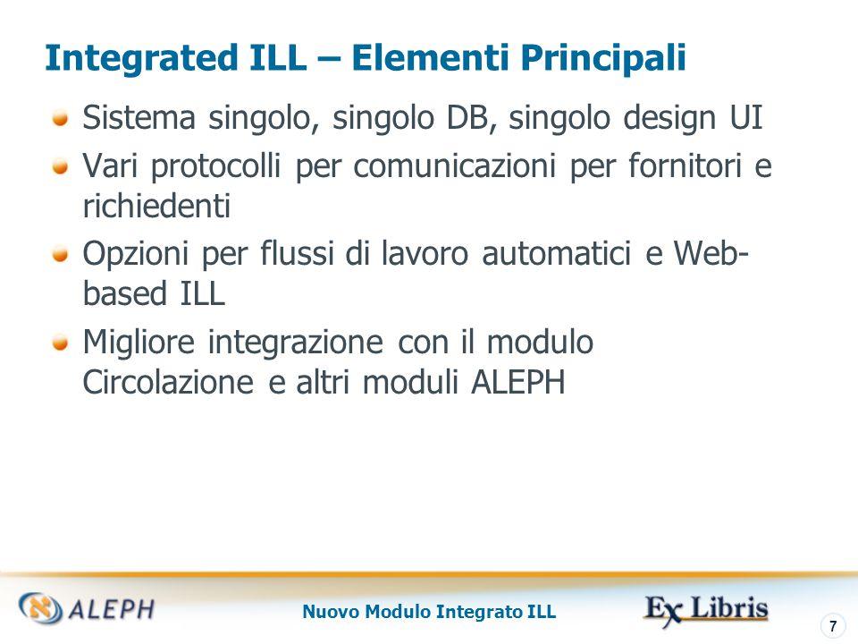 Nuovo Modulo Integrato ILL 8 Interfaccia