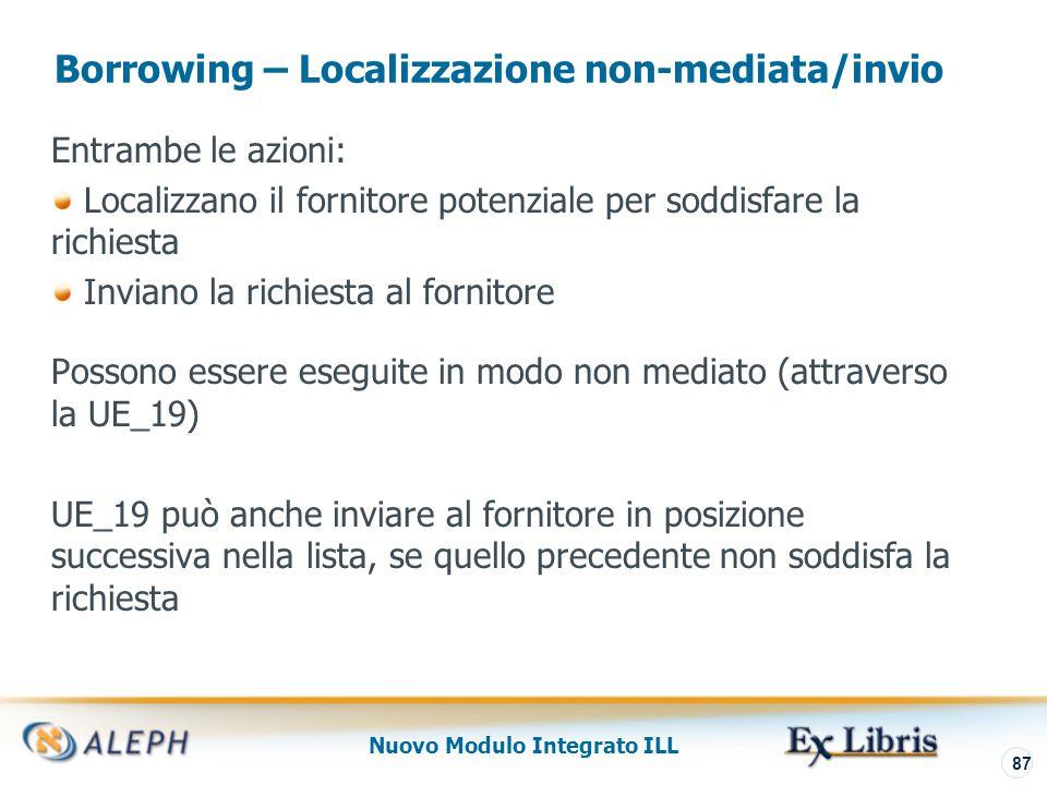 Nuovo Modulo Integrato ILL 88 Borrowing – Risposte