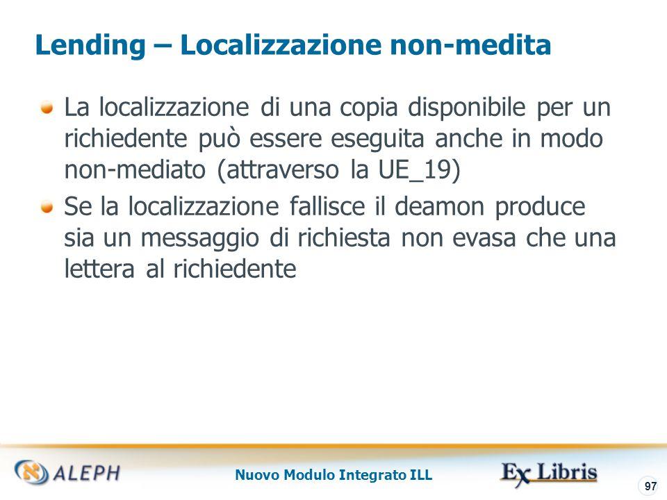 Nuovo Modulo Integrato ILL 98 Lending – Fornitura materiale richiesto